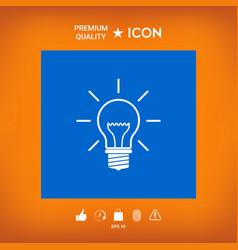 Light bulb - new ideas vector