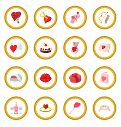 love cartoon icon circle vector image