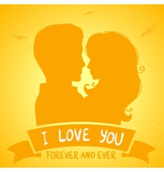 lovers sunset vector image