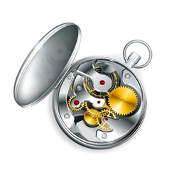 Mechanical clock vector image