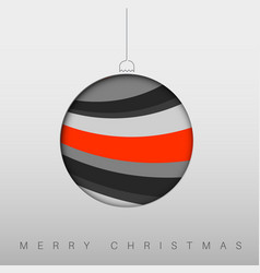 minimalistic christmas card with christmas bauble vector image vector image