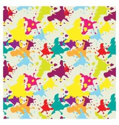 Multicolored blots vector image vector image