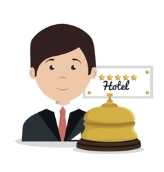Receptionist hotel service isolated icon vector