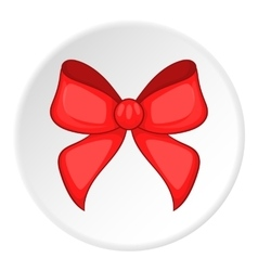 Red bow icon cartoon style vector image vector image