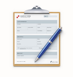 sample form mock-up vector image