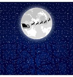 Santa claus riding on a reindeer vector