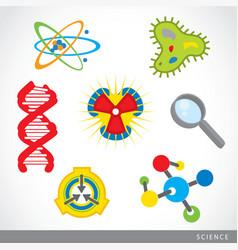 science stuff icon lab cartoon vector image