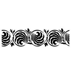 seamless horizontal border vector image vector image