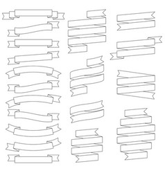 set of contours of ribbons vector image
