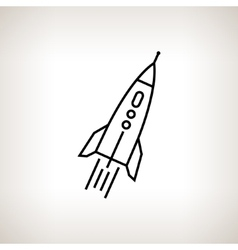 Silhouette rocket on a light background vector image vector image