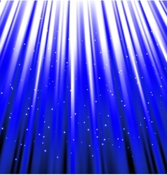 Stars are falling on the background of blue rays vector