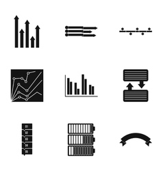 Success in business icons set simple style vector