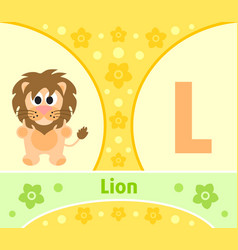 the english alphabet with lion vector image vector image