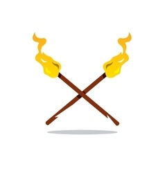 Two Torch Cartoon vector image