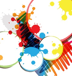 Ink paint banner design vector