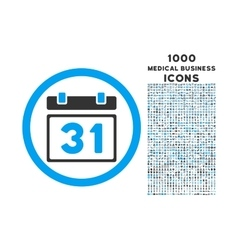 Last month day rounded icon with 1000 bonus icons vector