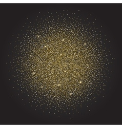 Gold glitter and bright sand dark background vector