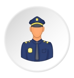 Policeman icon flat style vector image