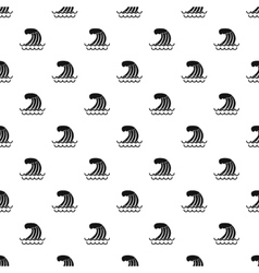 Wave pattern simple style vector image