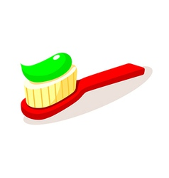 Icon tooth brush vector