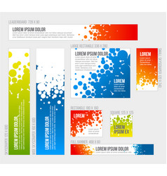 Banner templates collection with abstract vector