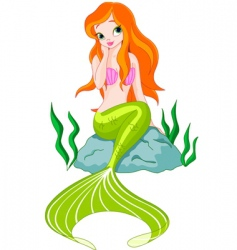 beautiful mermaid vector image