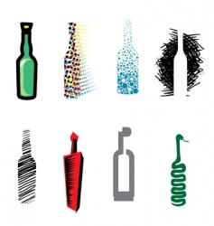 Bottle web icons vector