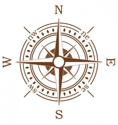 brown compass vector image