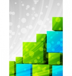 abstract background with cubes vector image