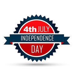 4th of july label vector image