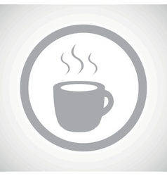 Grey hot drink sign icon vector