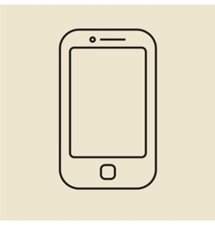 Cell phone icon thin line vector