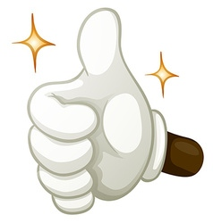 Hand gesture thumb up vector