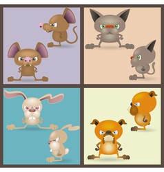 Angry domestic animals vector