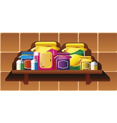Kitchen shelf vector