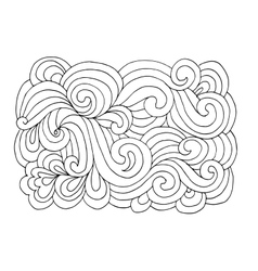 Abstract hand drawn ornament background for your vector