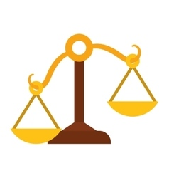 Balance icon law and justice design vector