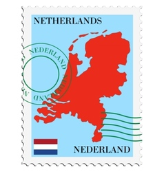 mail to-from Netherlands vector image