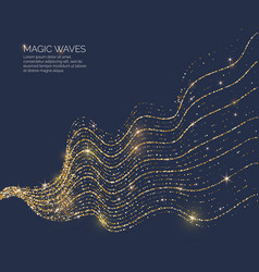 A magic wave with shining vector