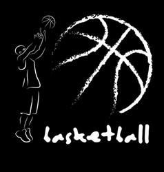 Abstract basketball and streetball poster vector