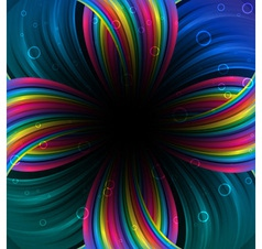 Abstract festive rainbow background vector image