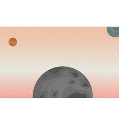 Art of space landscape vector