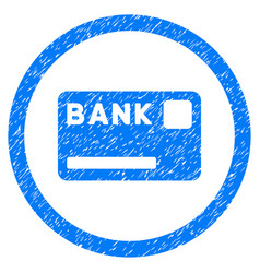 bank card rounded grainy icon vector image vector image