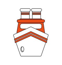 Boat flat vector