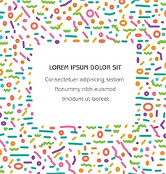 Color Lines Banner White background vector image vector image