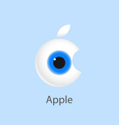 Eye apple vector