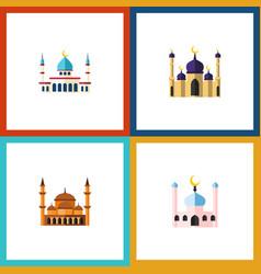 flat icon minaret set of mosque islam vector image