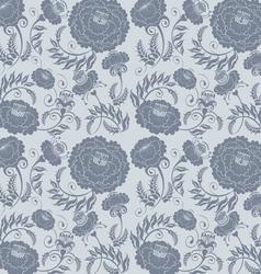 Floral design grey vector