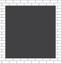 Frame white bricks vector