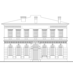 Heritage mansion building vector